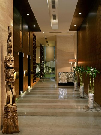 Hilton Garden Inn Gurgaon Baani Square India : The lobby features a range of handpicked artifacts.