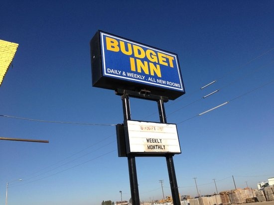 Budget Inn:                   When you see this, drive on.