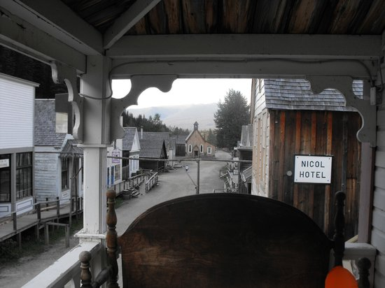 St. George Hotel:                   View from the front porch looking towards entrance of Barkerville
