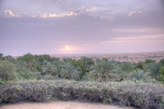 Al Maha, A Luxury Collection Desert Resort & Spa:                   Sunset at Al Maha in HDR