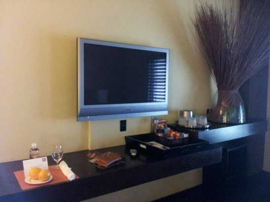 Hotel Valencia - Santana Row:                   Our TV