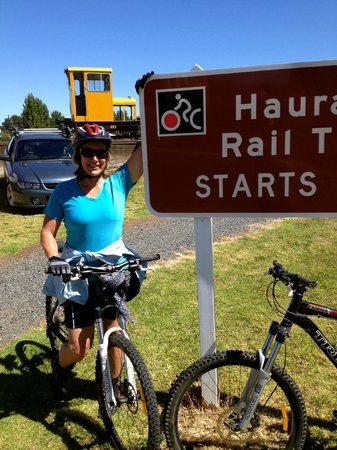 Hauraki Rail Trail - Day Rides:                   Trail start at Te Aroha