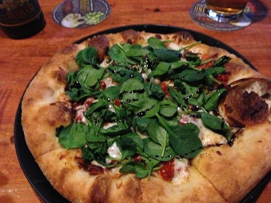 Slackwater Pub & Pizzeria:                   of Earth pizza