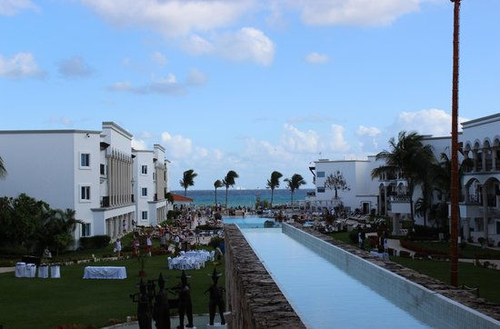 The Royal Playa del Carmen:                   Garden and Pool