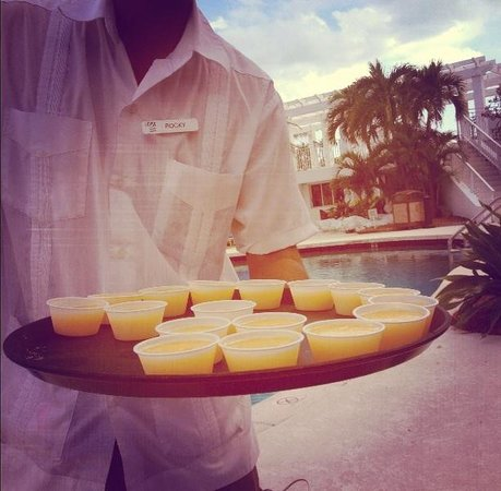 The Savoy Hotel & Beach Club:                   Free Mango daiquiri shots