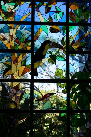 Hotel Bougainvillea:                   one of many gorgeous stained glass in the hotel
