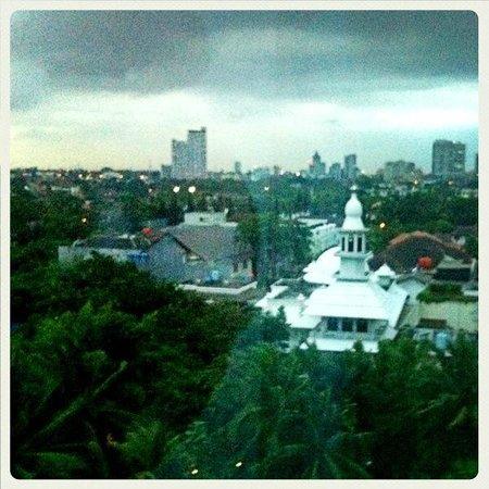 Gran Melia Jakarta:                   View from room