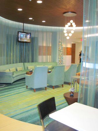 SpringHill Suites Houston The Woodlands:                   Beautiful sitting area in lobby