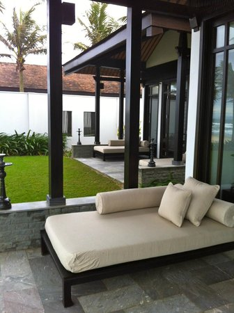 The Nam Hai Hoi An:                                     each room has its own terrace overlooking the garden