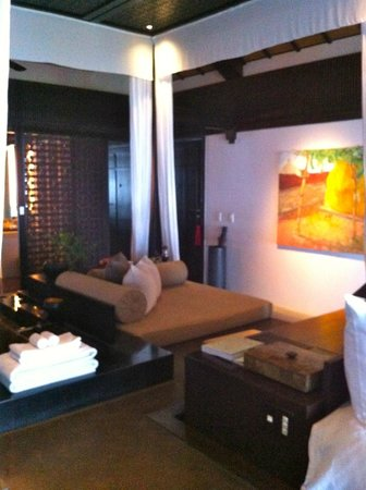 Four Seasons Resort The Nam Hai, Hoi An:                                     modern vietnamese paintings in one of the bedrooms