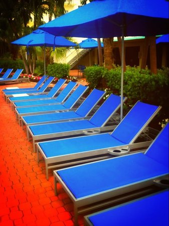 Four Points by Sheraton Miami Beach:                                     Updated pool-area lounge chairs.