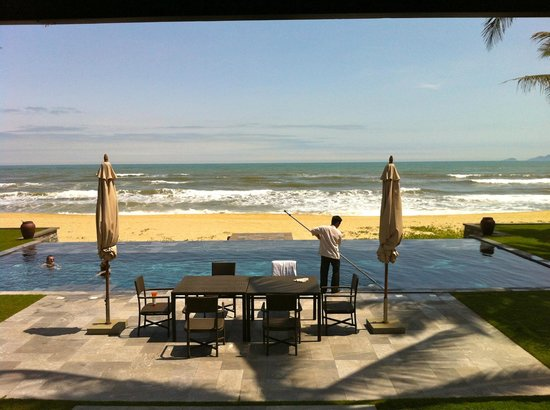 Four Seasons Resort The Nam Hai, Hoi An:                                     view from our living room