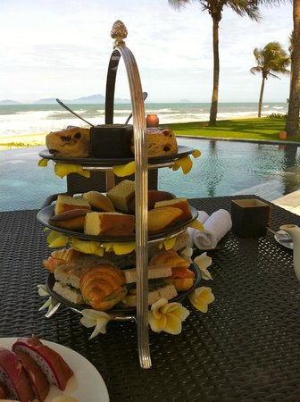 Four Seasons Resort The Nam Hai, Hoi An:                                     afternoon tea in the villa