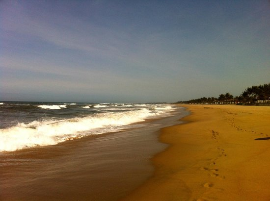 The Nam Hai Hoi An:                                     the very long and natural beach
