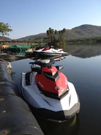 Cabanas, Sun City:                   Jet boat!