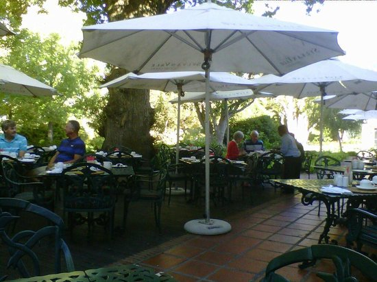 Erinvale Estate Hotel:                                     Breakfast on the terrace