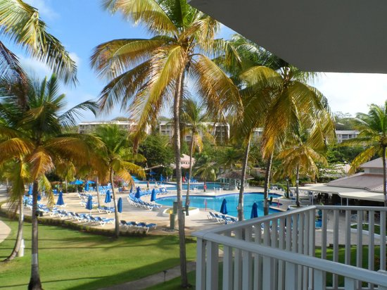 St. James's Club Morgan Bay:                                     Pool view from room 727