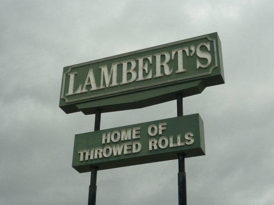Lambert's II:                                     Lambert Sign
