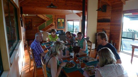 Buffalo Lodge:                   A wonderful meal with Evelyne