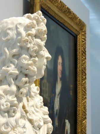 Louvre-Lens:                                     Portrait of Louis XIV's painter C. Lebrun, and Louis XIV in