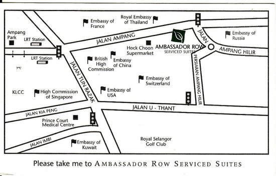 Ambassador Row Hotel Suites by Lanson Place:                   The back of the hotel's business card