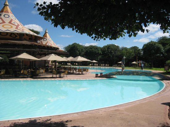 AVANI Victoria Falls Resort:                   pool and pool bar