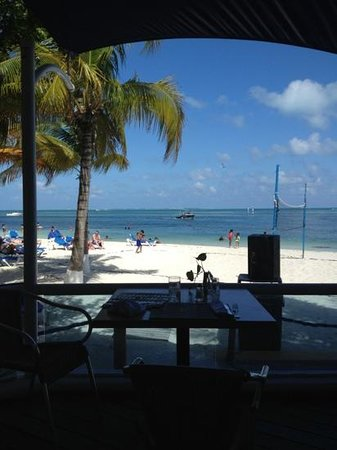Occidental Costa Cancun:                   lunch view at the Albatross
