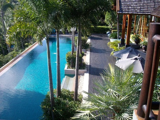 Four Seasons Resort Koh Samui Thailand:                   Main pool from upper suite at Residence 9