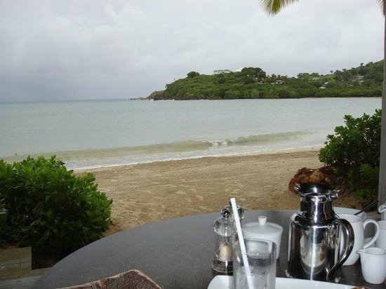 Carlisle Bay Antigua:                   Breakfast view.
