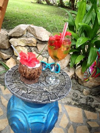 Maruba Resort Jungle Spa:                   Hibiscus Mojito &  Maruban Rhum Punch