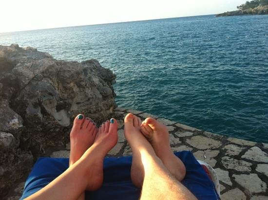 Rockhouse Hotel:                   on our villa patio