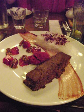 The Greyhound Inn:                   Beetroot desserts