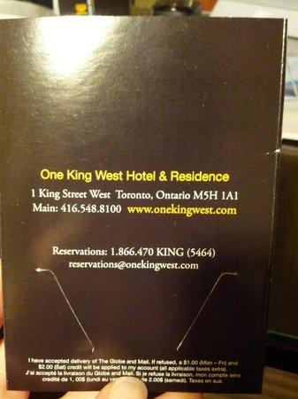 วัน คิง เวสท์ โฮเต็ลแอนด์เรสซิเดนซ์:                   Hotel info