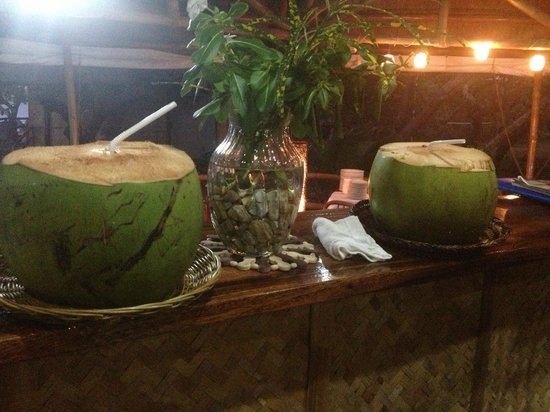 Cashew Grove Beach Resort:                                     fresh buko juice upon our arrival