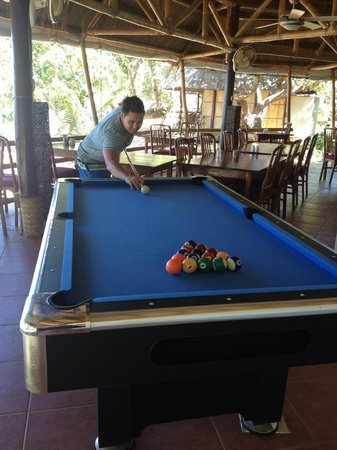 Cashew Grove Beach Resort:                                     playing pool