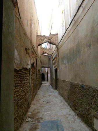 Riad BB Marrakech:                   Uitzicht vanaf de voordeur