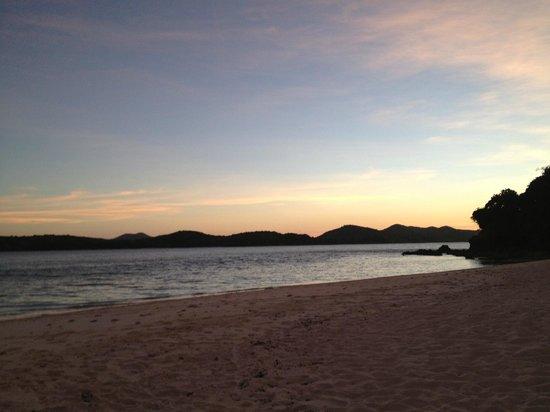 Mangenguey Island:                   sunset