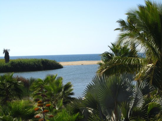 Posada La Poza:                   View of ocean and lagoon from our room