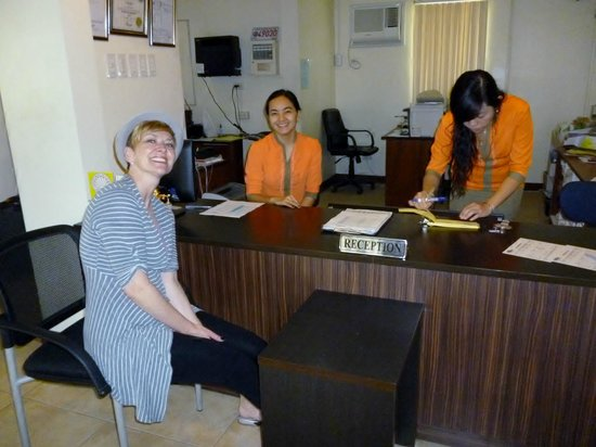 Hotel Tropika Davao:                   Checking in with the amazing staff.