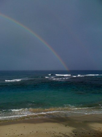 Villa Tropical Oceanfront Apartments on Shacks Beach: Double Rainbows are a regular site in Isabela