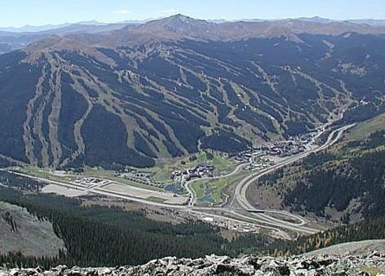 Copper Mountain Ski Area:                   Copper Mountain from Peak 4, Breckenridge