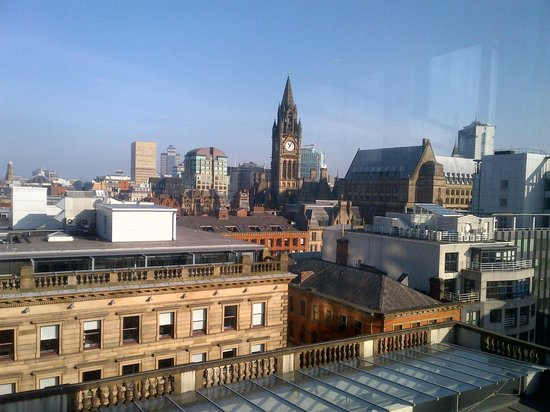 Radisson Blu Edwardian Manchester:                   View from the 10th floor