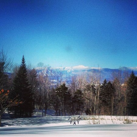 "Stowe Meadows :                   The view from our room - ""The Mountain Suite"""