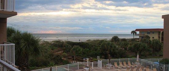 St. Augustine Ocean & Racquet Resort:                   View of ocean from our bedroom on 3rd floor