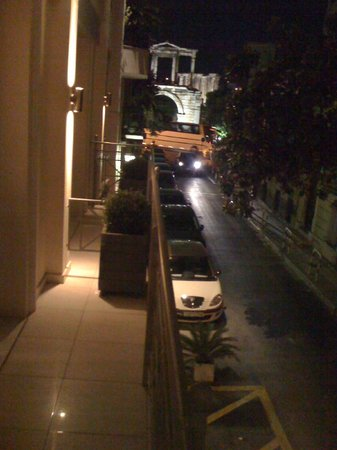 AVA Hotel Athens:                   Our Balcony View of Temple of Zeus