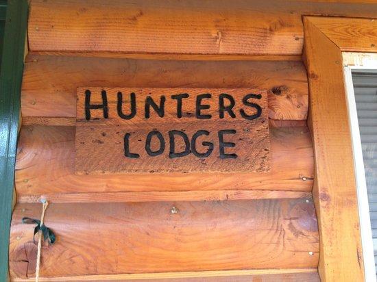 Cienaga Creek Ranch:                   Hunters Lodge plaque