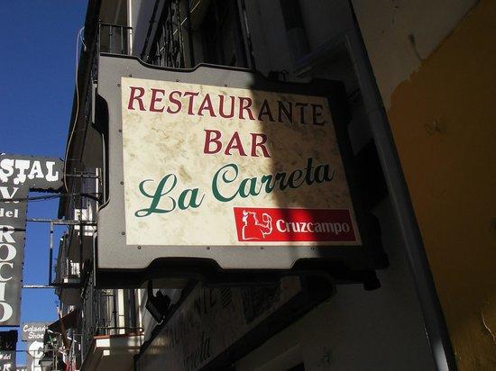Hostal Virgen del Rocio:                   Trevlig bra restaurang/ bar