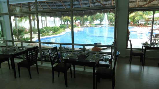 El Dorado Maroma, a Beachfront Resort, by Karisma:                   View from Restaurant