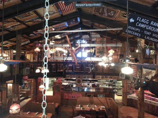 Mangy Moose Restaurant and Saloon:                   tri-plane & other nostalgia