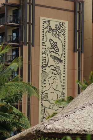 Aulani, a Disney Resort & Spa:                   Typical Disney Detail on Building Exterior Brings Local Flavor